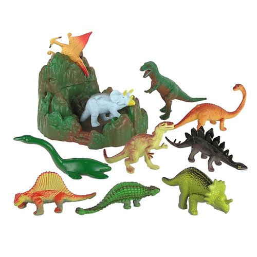 Big Rubber Dinosaurs 6 Types Realistic Figures