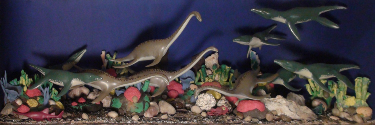 Jurassic Sea Diorama by Fred Snyder